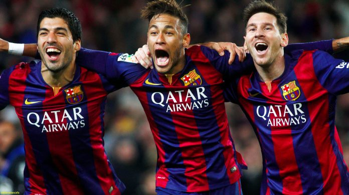 neymar bersama lionel messi